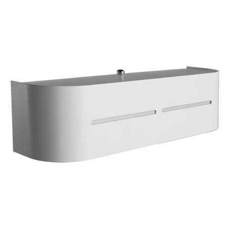 Настенный светильник Arte Lamp Cosmopolitan A7210AP-1WH, 1xE14x40W, белый, металл, стекло