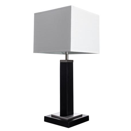 Настольная лампа Arte Lamp Waverley A8880LT-1BK, 1xE14x40W, черный с хромом, белый, дерево, текстиль - миниатюра 1