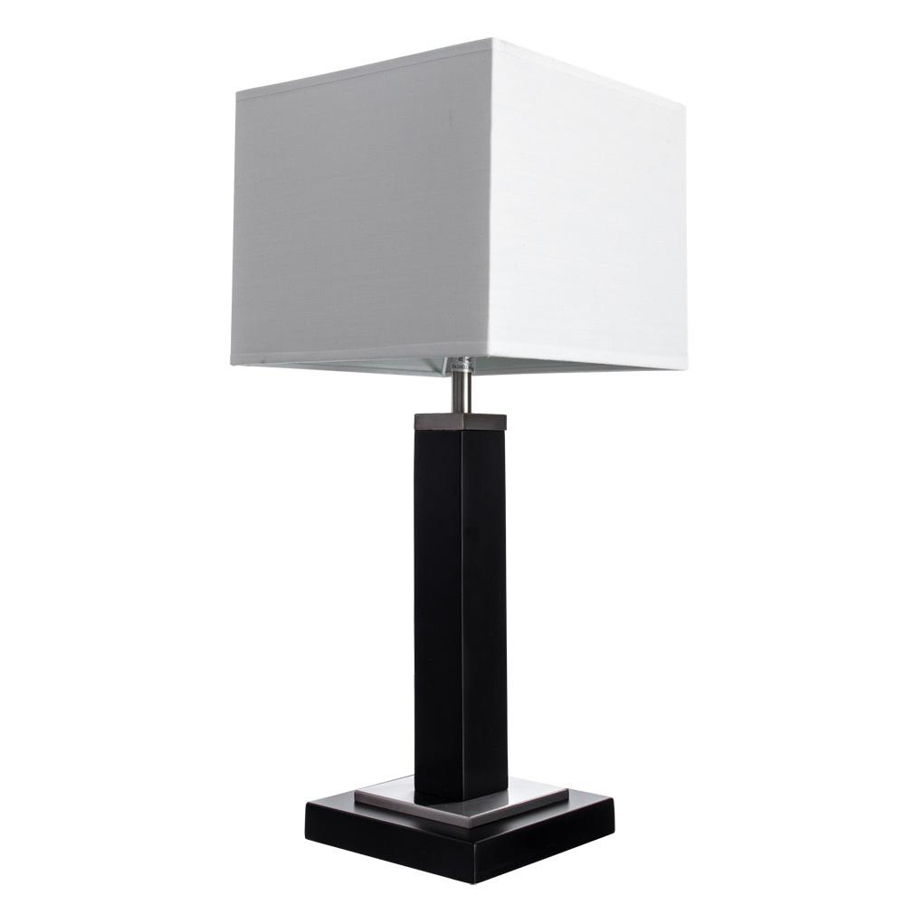 Настольная лампа Arte Lamp Waverley A8880LT-1BK, 1xE14x40W, черный с хромом, белый, дерево, текстиль - фото 1