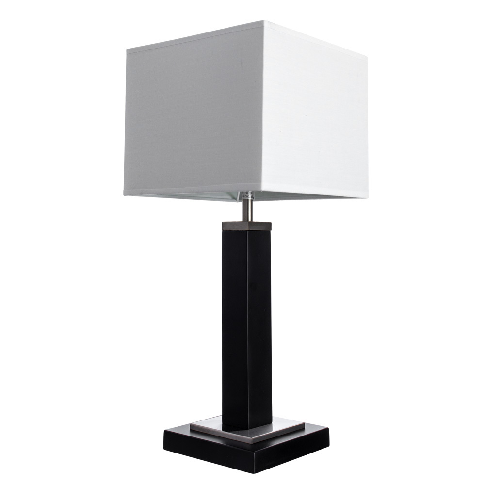 Настольная лампа Arte Lamp Waverley A8880LT-1BK, 1xE14x40W, черный, белый, дерево, текстиль - фото 1