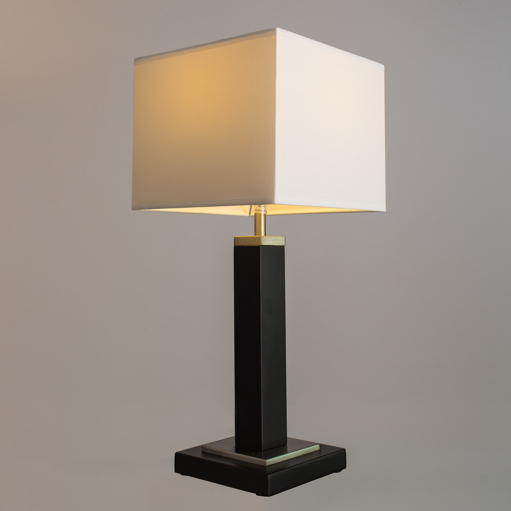 Настольная лампа Arte Lamp Waverley A8880LT-1BK, 1xE14x40W, черный с хромом, белый, дерево, текстиль - фото 2