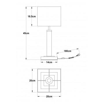 Схема с размерами Arte Lamp A8880LT-1BK