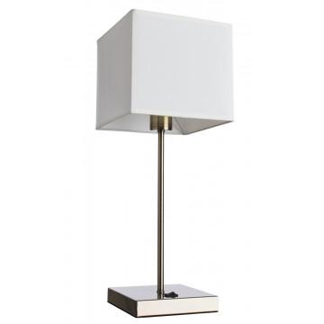 Настольная лампа Arte Lamp Hall A9247LT-1AB, 1xE27x40W, бронза, белый, металл, текстиль