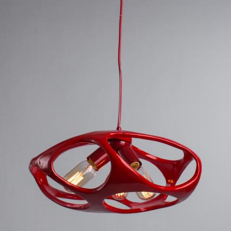 Подвесная люстра Arte Lamp Mars A3003SP-3RD, 3xE27x40W, красный, металл, пластик - миниатюра 2