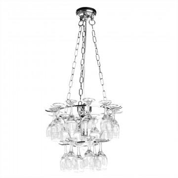 Подвесная люстра Arte Lamp Bancone A3578SP-3CC, 3xE14x60W, хром, прозрачный, металл, стекло