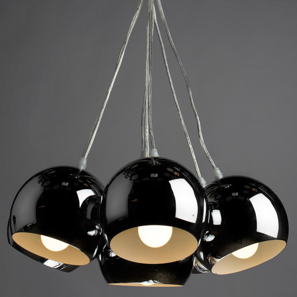 Подвесная люстра Arte Lamp Rondo A8072SP-7CC, 7xE27x40W, хром, металл - фото 2