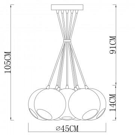 Схема с размерами Arte Lamp A8072SP-7CC