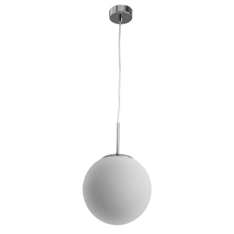 Подвесной светильник Arte Lamp Volare A1563SP-1CC, 1xE27x40W, хром, белый, металл, стекло