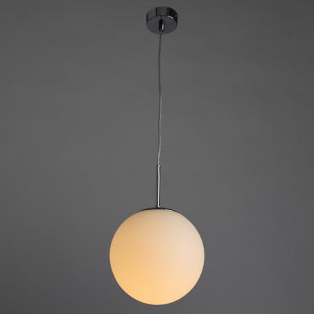 Подвесной светильник Arte Lamp Volare A1563SP-1CC, 1xE27x40W, хром, белый, металл, стекло - миниатюра 2