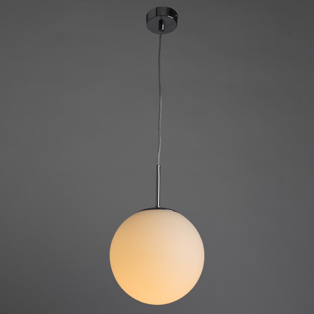 Подвесной светильник Arte Lamp Volare A1563SP-1CC, 1xE27x40W, хром, белый, металл, стекло - фото 2