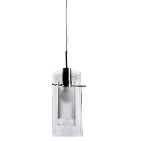 Подвесной светильник Arte Lamp Aries A2300SP-1CC, 1xE14x40W, хром, прозрачный, белый, металл, стекло