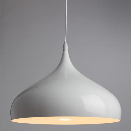 Подвесной светильник Arte Lamp Helmet A3266SP-1WH, 1xE27x40W, белый, металл - миниатюра 2