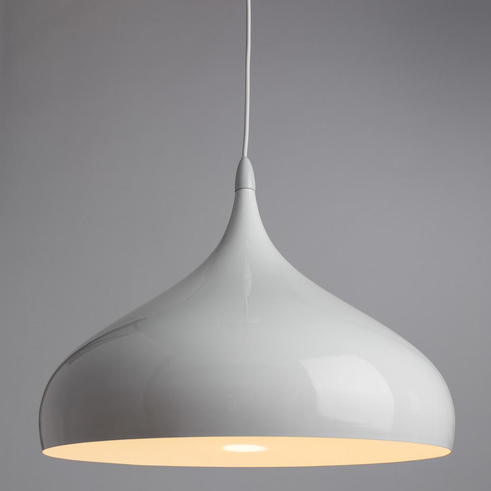 Подвесной светильник Arte Lamp Helmet A3266SP-1WH, 1xE27x40W, белый, металл - фото 2