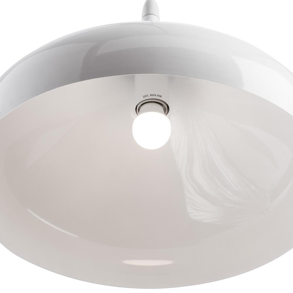 Подвесной светильник Arte Lamp Helmet A3266SP-1WH, 1xE27x40W, белый, металл - фото 3