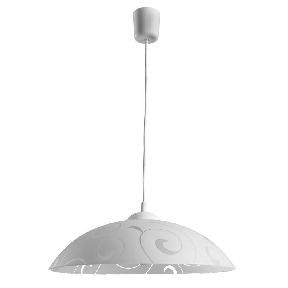 Подвесной светильник Arte Lamp Cucina A3320SP-1WH, 1xE27x60W, белый, пластик, стекло - фото 1