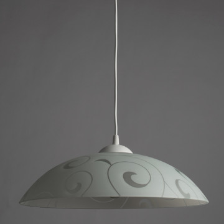 Подвесной светильник Arte Lamp Cucina A3320SP-1WH, 1xE27x60W, белый, пластик, стекло - миниатюра 2