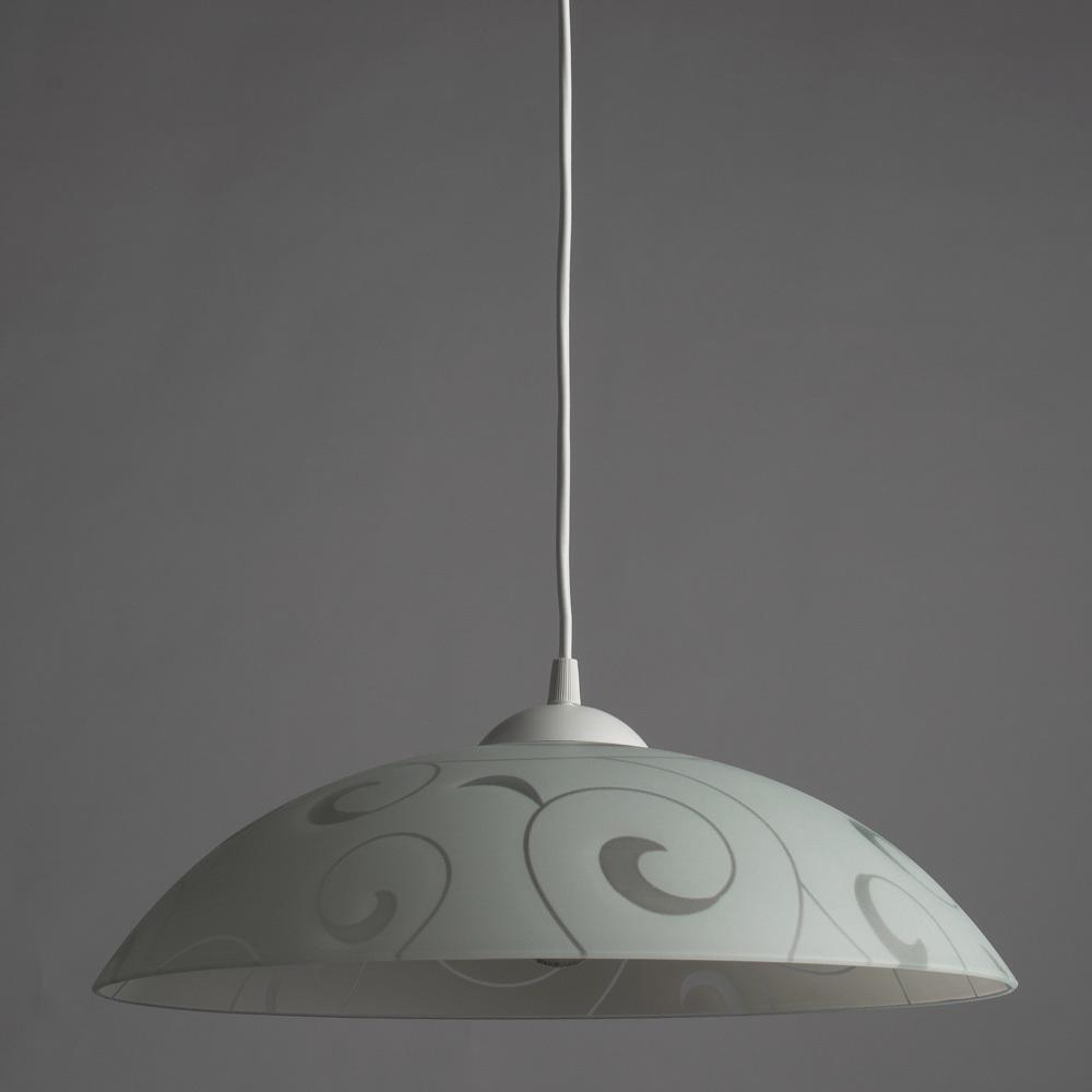 Подвесной светильник Arte Lamp Cucina A3320SP-1WH, 1xE27x60W, белый, пластик, стекло - фото 2
