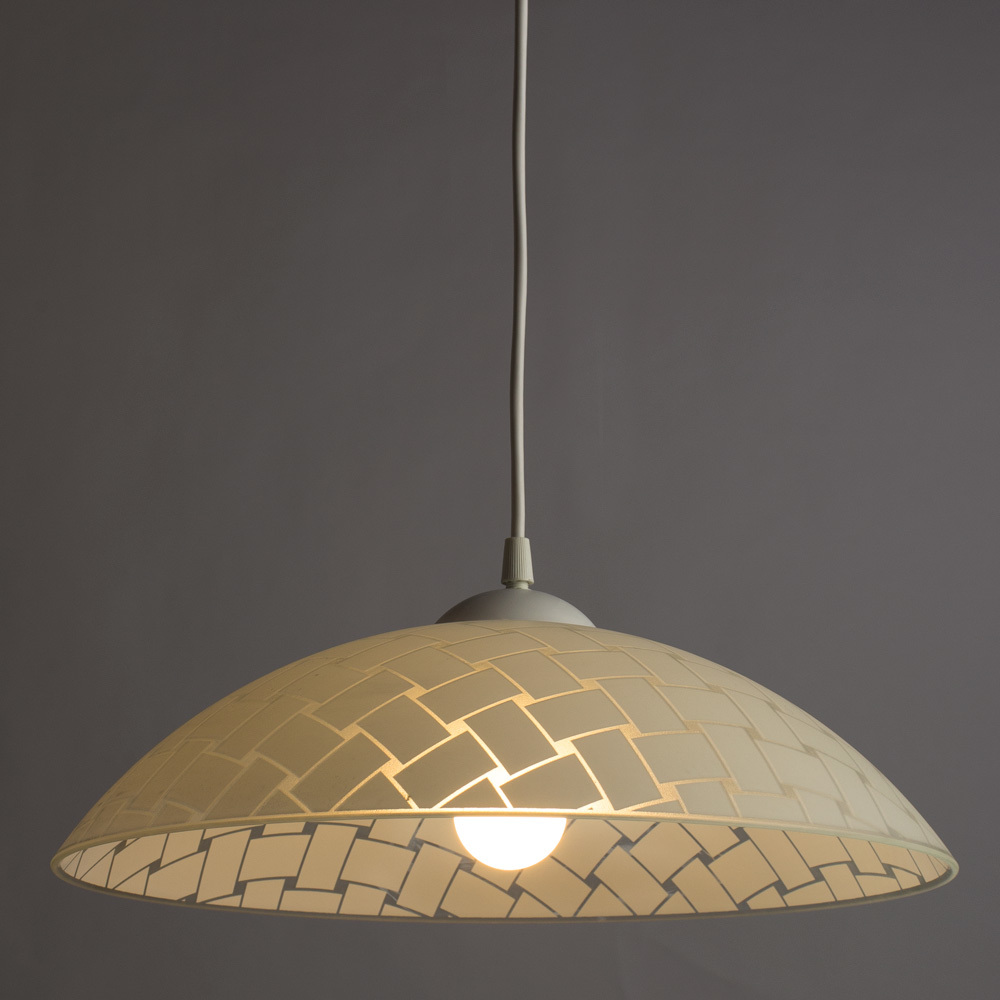 Подвесной светильник Arte Lamp Cucina A3421SP-1WH, 1xE27x60W, белый, пластик, стекло - фото 2