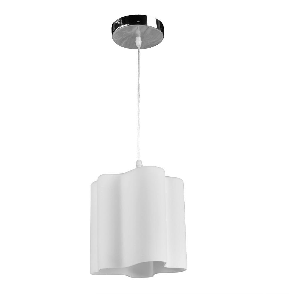 Подвесной светильник Arte Lamp Serenata A3479SP-1CC, 1xE27x40W, хром, белый, металл, стекло - фото 1
