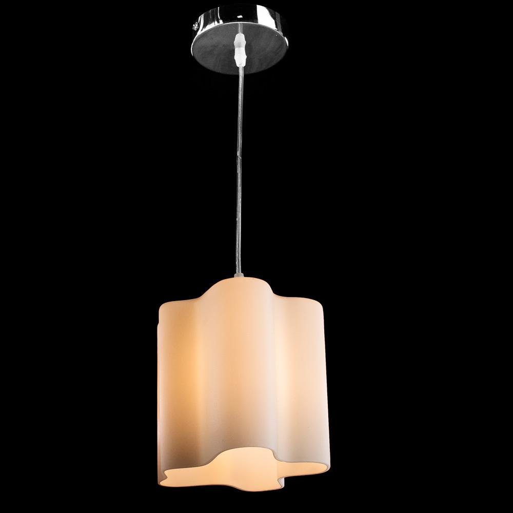 Подвесной светильник Arte Lamp Serenata A3479SP-1CC, 1xE27x40W, хром, белый, металл, стекло - фото 2