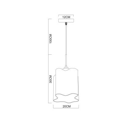 Схема с размерами Arte Lamp A3479SP-1CC