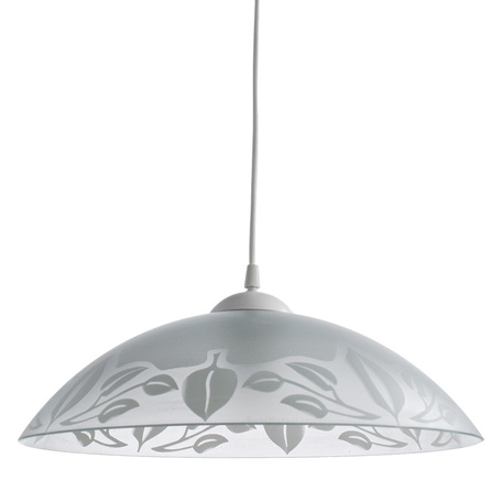 Подвесной светильник Arte Lamp Cucina A4020SP-1WH, 1xE27x60W, белый, пластик, стекло