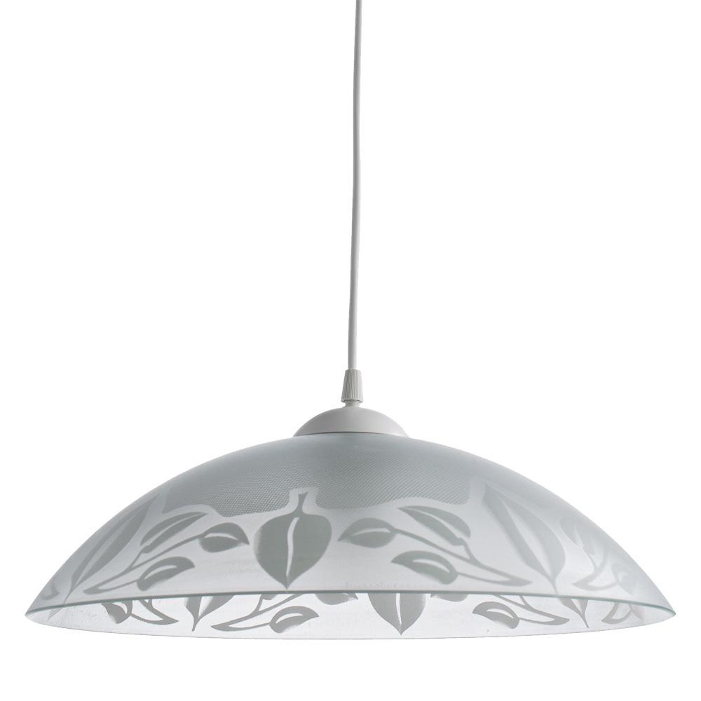 Подвесной светильник Arte Lamp Cucina A4020SP-1WH, 1xE27x60W, белый, пластик, стекло - фото 1