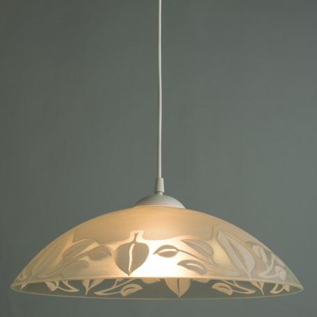 Подвесной светильник Arte Lamp Cucina A4020SP-1WH, 1xE27x60W, белый, пластик, стекло - миниатюра 2