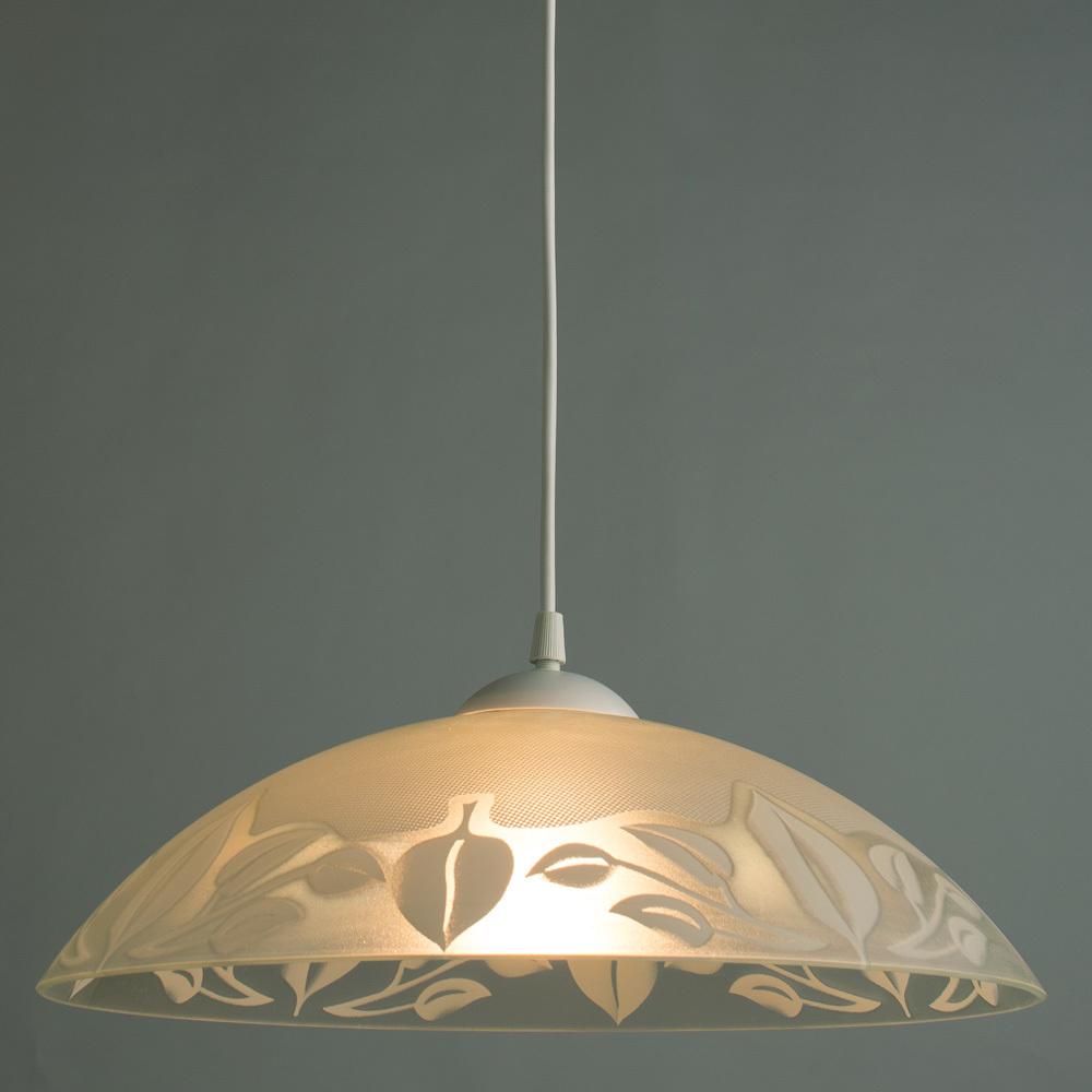 Подвесной светильник Arte Lamp Cucina A4020SP-1WH, 1xE27x60W, белый, пластик, стекло - фото 2