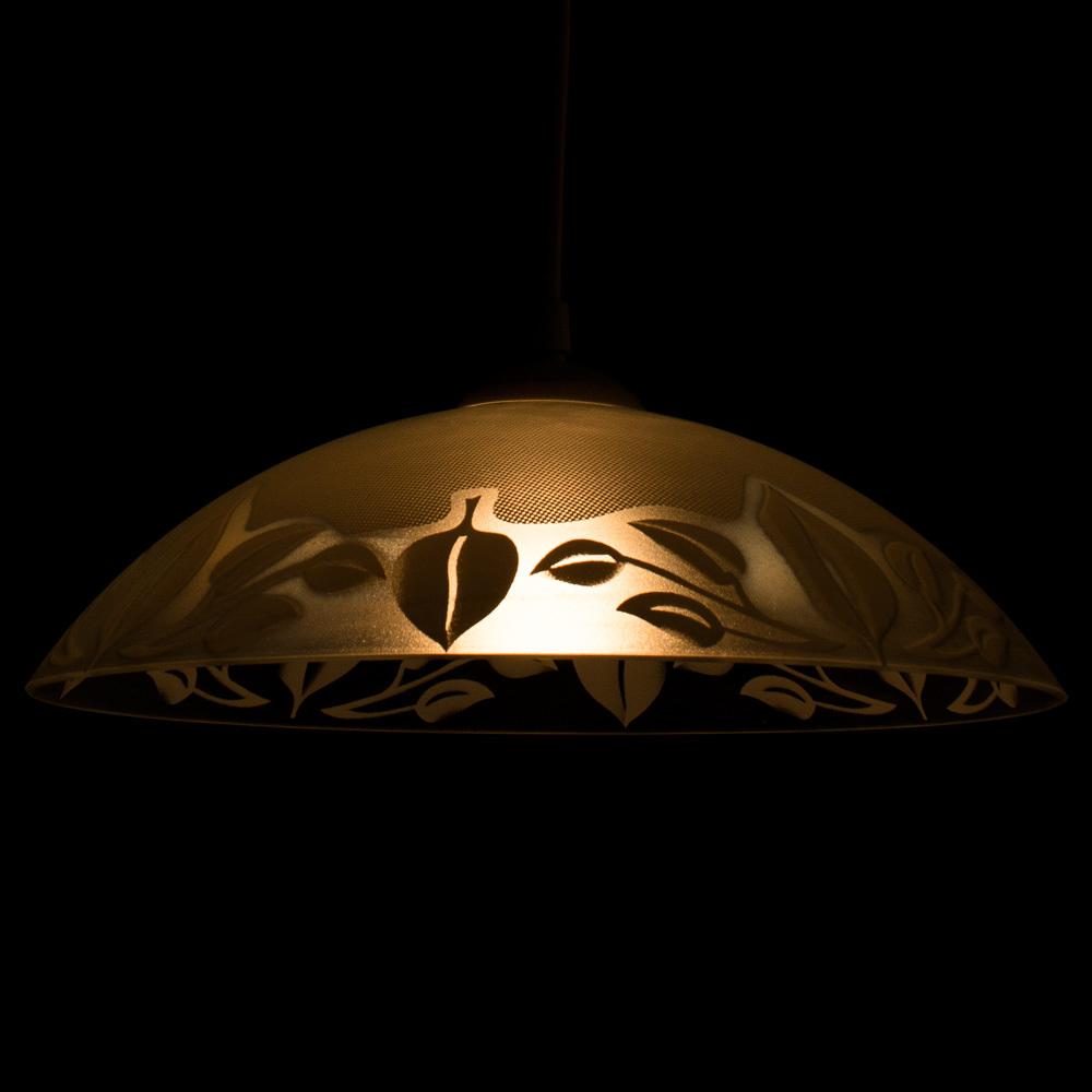 Подвесной светильник Arte Lamp Cucina A4020SP-1WH, 1xE27x60W, белый, пластик, стекло - фото 3