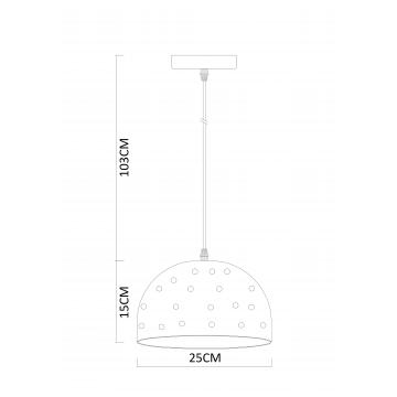 Схема с размерами Arte Lamp A4084SP-1CC