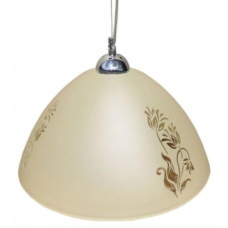 Подвесной светильник Arte Lamp Cucina A4728SP-1CC, 1xE27x100W, хром, бежевый, металл, стекло