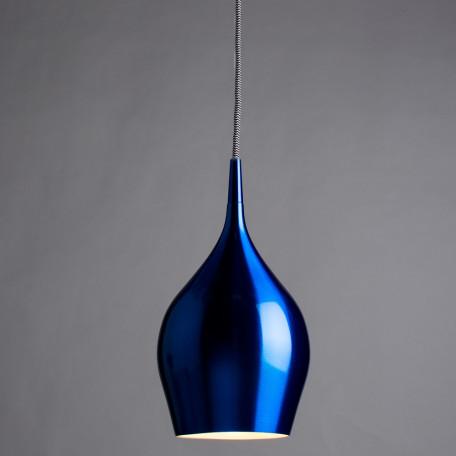 Подвесной светильник Arte Lamp Vibrant A6412SP-1AZ, 1xE14x40W, синий, металл - миниатюра 2