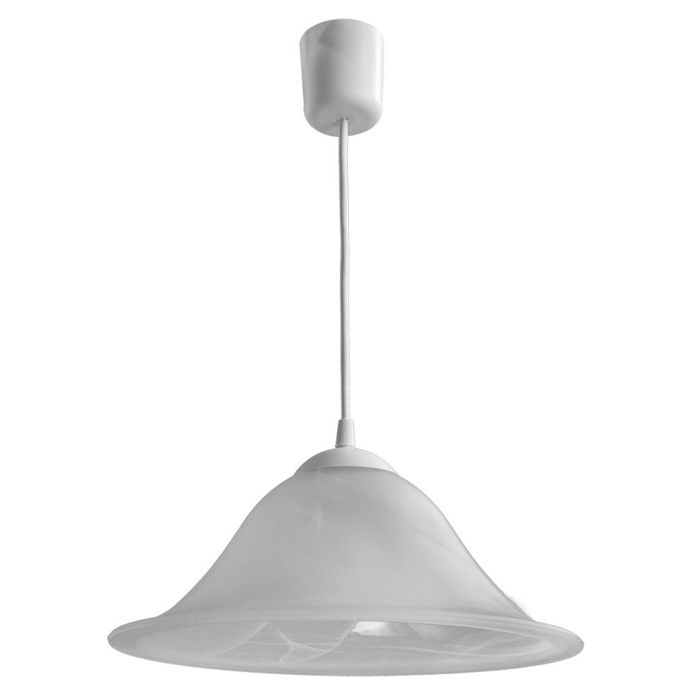 Подвесной светильник Arte Lamp Cucina A6430SP-1WH, 1xE27x60W, белый, пластик, стекло - фото 1