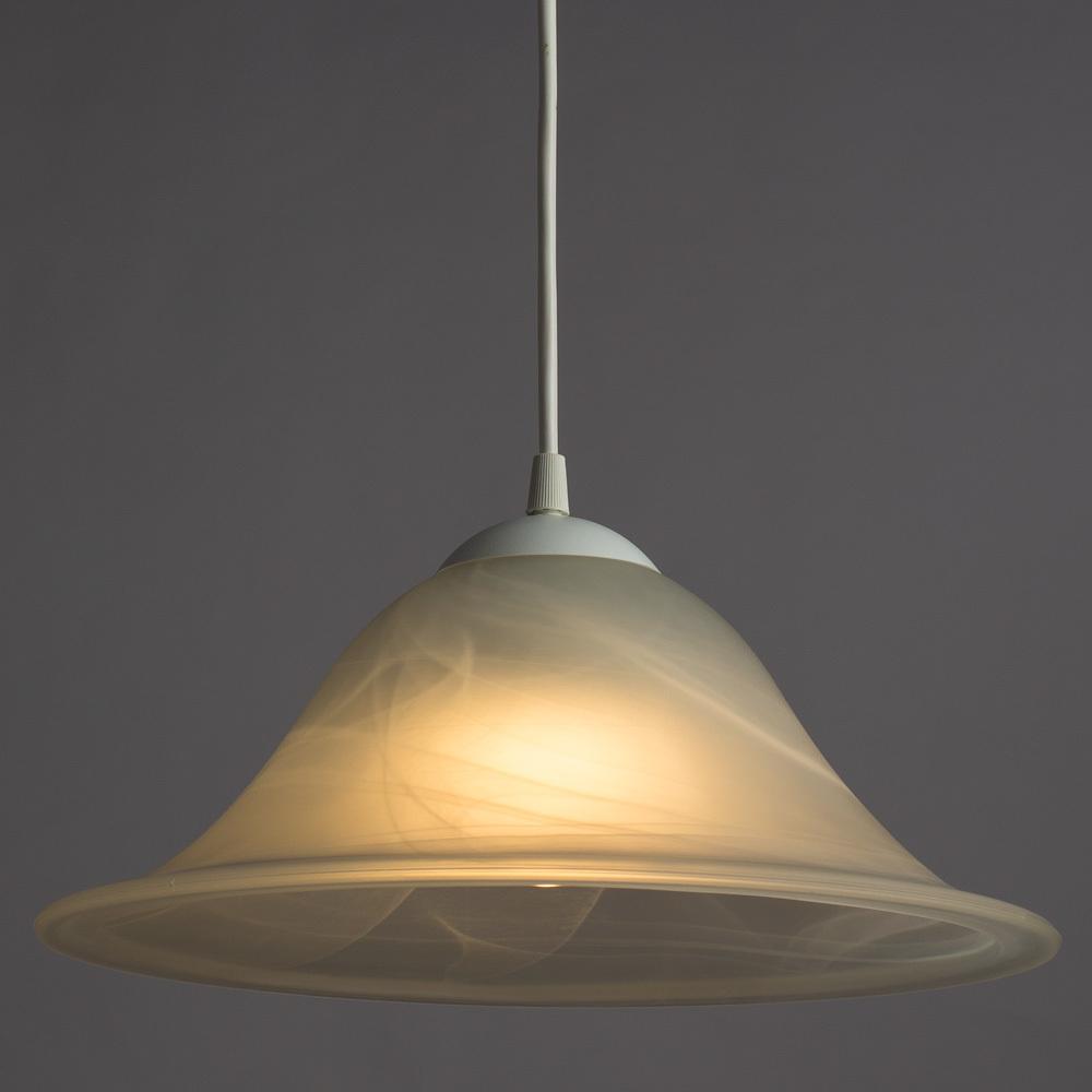 Подвесной светильник Arte Lamp Cucina A6430SP-1WH, 1xE27x60W, белый, пластик, стекло - фото 2
