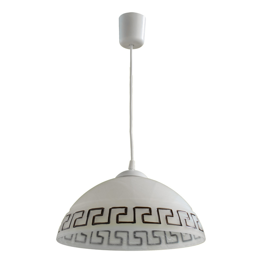 Подвесной светильник Arte Lamp Cucina A6630SP-1WH, 1xE27x60W, белый, пластик, стекло - фото 1