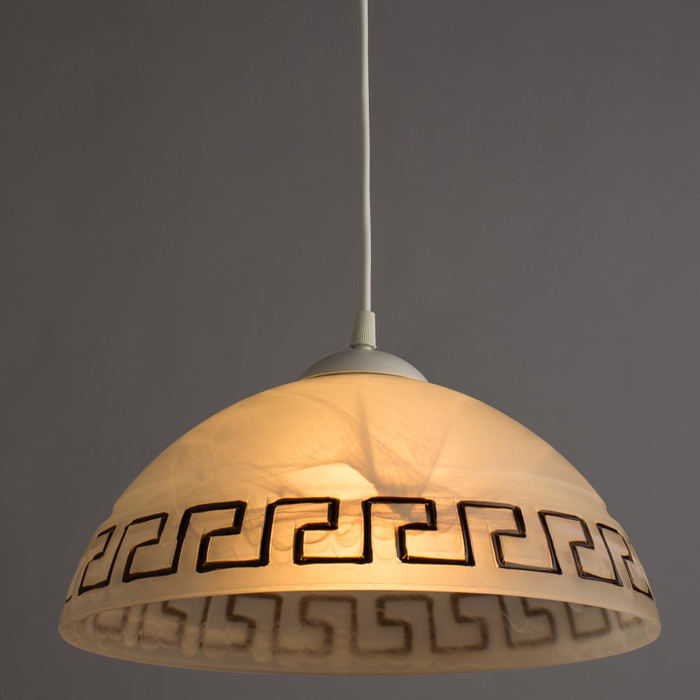 Подвесной светильник Arte Lamp Cucina A6630SP-1WH, 1xE27x60W, белый, пластик, стекло - фото 2