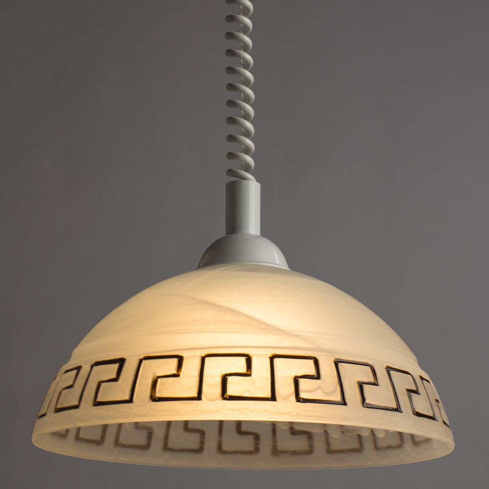 Подвесной светильник Arte Lamp Cucina A6631SP-1WH, 1xE27x60W, белый, пластик, стекло - фото 2