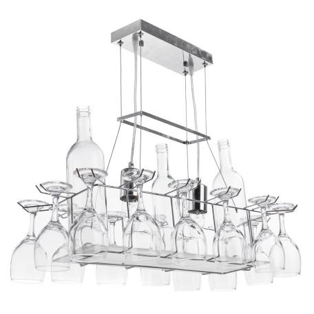 Подвесной светильник Arte Lamp Bancone A7043SP-2CC, 2xE27x60W, хром, прозрачный, металл, стекло