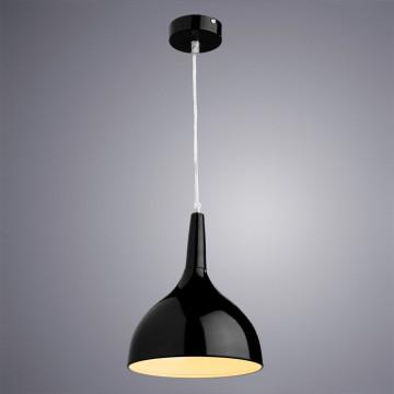 Подвесной светильник Arte Lamp Helmet A9077SP-1BK, 1xE27x60W, черный, металл - миниатюра 2