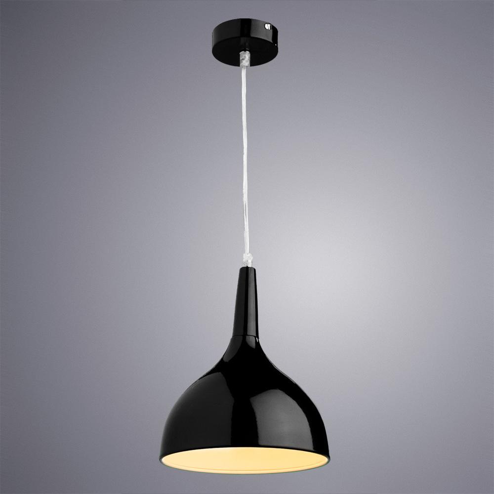 Подвесной светильник Arte Lamp Helmet A9077SP-1BK, 1xE27x60W, черный, металл - фото 2