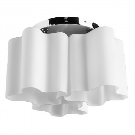 Потолочная люстра Arte Lamp Serenata A3479PL-3CC, 3xE27x40W, хром, белый, металл, стекло