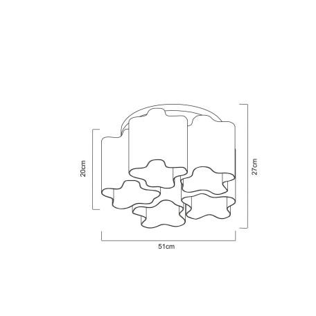 Схема с размерами Arte Lamp A3479PL-5CC