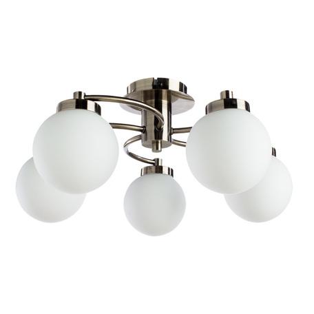Потолочная люстра Arte Lamp Cloud A8170PL-5AB, 5xE14x40W, бронза, белый, металл, стекло