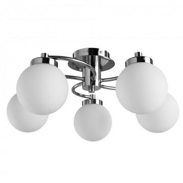 Потолочная люстра Arte Lamp Cloud A8170PL-5SS, 5xE14x40W, серебро, белый, металл, стекло