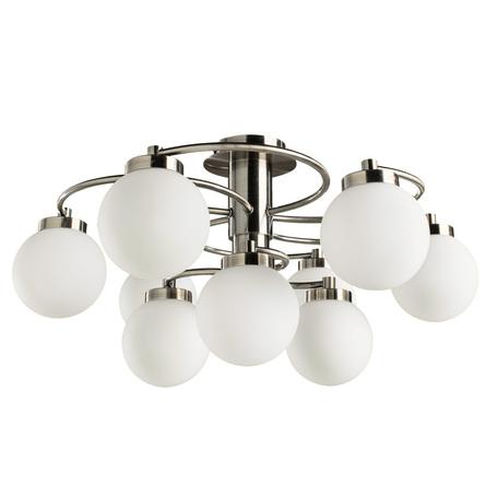 Потолочная люстра Arte Lamp Cloud A8170PL-9AB, 9xE14x40W, бронза, белый, металл, стекло - миниатюра 1