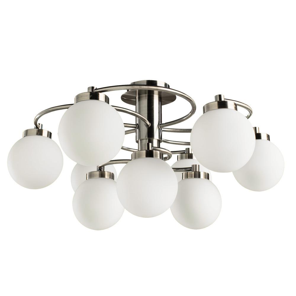 Потолочная люстра Arte Lamp Cloud A8170PL-9AB, 9xE14x40W, бронза, белый, металл, стекло - фото 1