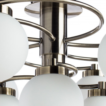 Потолочная люстра Arte Lamp Cloud A8170PL-9AB, 9xE14x40W, бронза, белый, металл, стекло - миниатюра 3