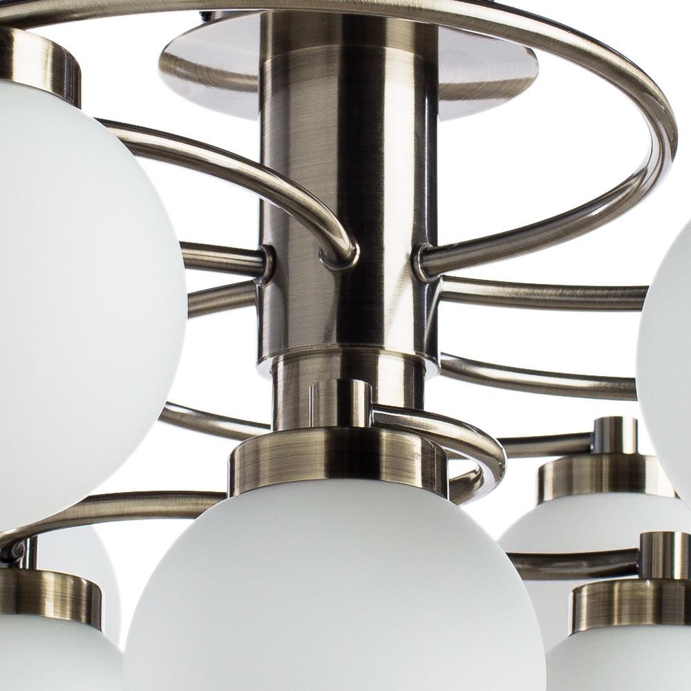 Потолочная люстра Arte Lamp Cloud A8170PL-9AB, 9xE14x40W, бронза, белый, металл, стекло - фото 3