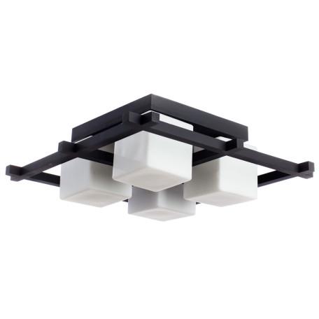 Потолочная люстра Arte Lamp Woods A8252PL-4CK, 4xE27x60W, венге, белый, дерево, стекло